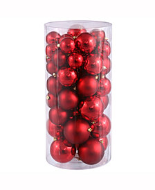 "1.5""-2"" Red Shiny/Matte Christmas Ornament, 50 per Box"