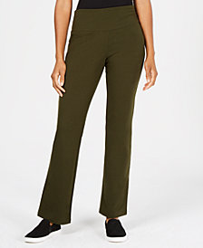 Style & Co Tummy-Control Bootcut Pull-On Pants, Created for Macy's