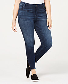 Celebrity Pink Trendy Plus Size Raw-Hem Skinny Jeans