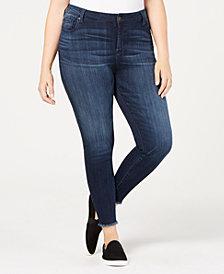 Celebrity Pink Plus Size Raw-Hem Skinny Jeans