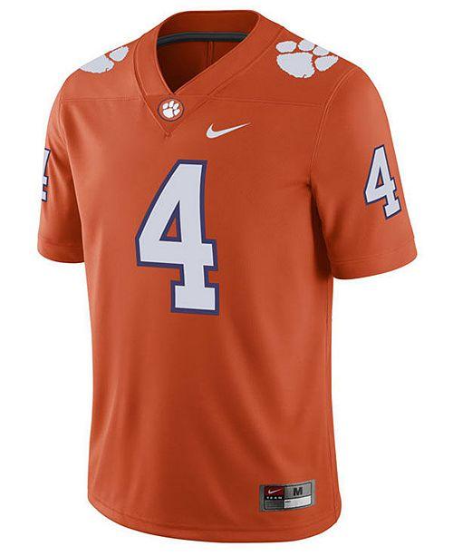 28fb8aaae Nike Men s Deshaun Watson Clemson Tigers Player Game Jersey - Sports ...