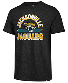 '47 Brand Men's Jacksonville Jaguars Team Stripe Match Tri-Blend T-Shirt