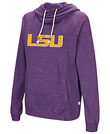 Colosseum Women's LSU Tigers Speckled Fleece Hooded Sweatshirt