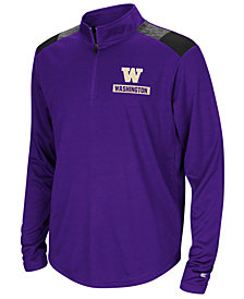 Colosseum Washington Huskies 99 Yards Quarter-Zip Pullover, Big Boys (8-20)