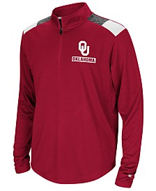 Colosseum Oklahoma Sooners 99 Yards Quarter-Zip Pullover, Big Boys (8-20)