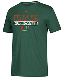 adidas Men's Miami Hurricanes Performance Wordstack T-Shirt