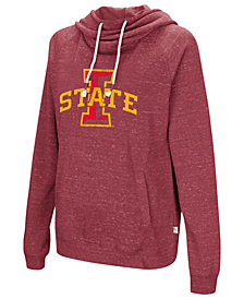 Colosseum Women's Iowa State Cyclones Speckled Fleece Hooded Sweatshirt