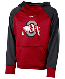 Nike Ohio State Buckeyes Therma Color Block Hoodie, Big Boys (8-20)