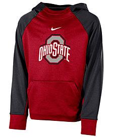 Nike Ohio State Buckeyes Therma Color Block Hoodie, Big Boys (8-20)