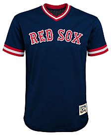 Outerstuff Boston Red Sox Mesh V-Neck Blank Top, Big Boys (8-20)