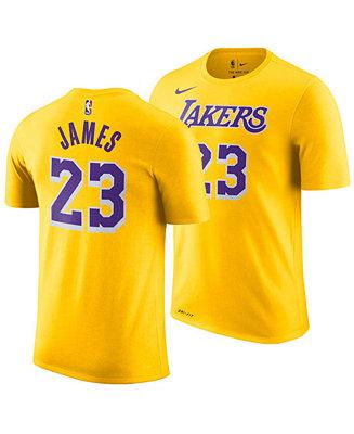 detailing 399ec 21c31 Nike LeBron James Los Angeles Lakers Icon Name & Number ...