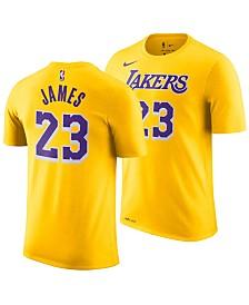 Nike LeBron James Los Angeles Lakers Icon Name & Number T-Shirt, Big Boys (8-20)