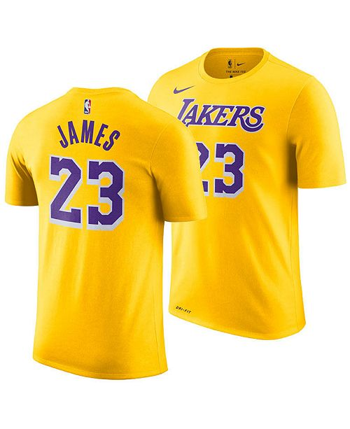 81a44d5881 ... Nike LeBron James Los Angeles Lakers Icon Name   Number T-Shirt