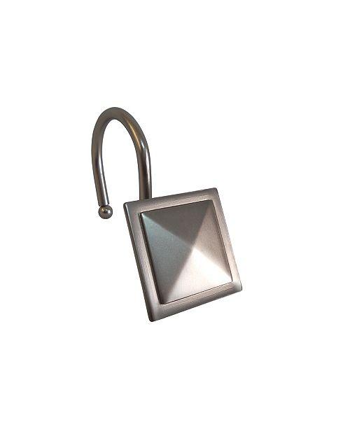 Elegant Home Fashions Shower Hooks -  Square Diamond  - Satin Nickel
