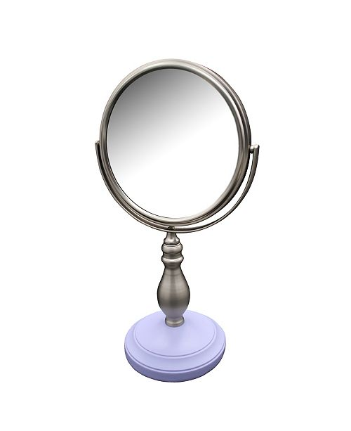 Elegant Home Fashions Annabella Freestanding Bath Magnifying Makeup Mirror with Lavender Purple base and Chi Chi Pedestal