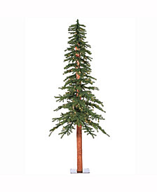 8' Natural Alpine Artificial Christmas Tree with 400 Clear Lights
