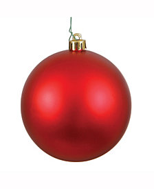 "6"" Red Matte Ball Christmas Ornament, 4 per Box"