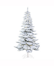 Vickerman 6' Snowy Alpine Artificial Christmas Tree with 300 Warm White LED Lights