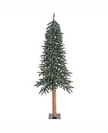 Vickerman 6' Natural Bark Alpine Artificial Christmas Tree Unlit