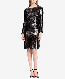 Lauren Ralph Lauren Sequin Houndstooth Dress