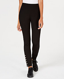 Hippie Rose Juniors' Ankle-Snap Skinny Pants