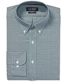 Lauren Ralph Lauren Men's Slim Fit Estate Plaid Dress Shirt