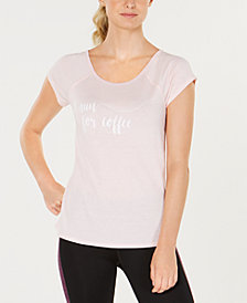 Ideology Graphic Strappy-Back T-Shirt, Created for Macy's