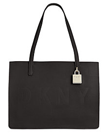 DKNY Commuter Pebble Leather Logo Tote, Created for Macy's