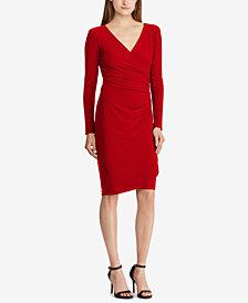 Lauren Ralph Lauren Surplice Jersey Dress