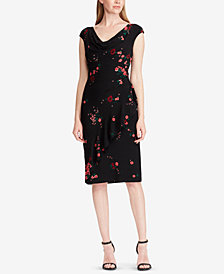 Lauren Ralph Lauren Ruffle-Trim Floral-Print Dress