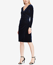 Lauren Ralph Lauren Petite Velvet Surplice Dress