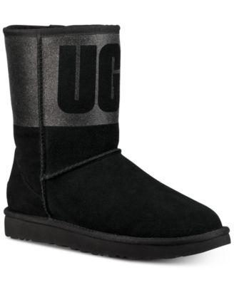 ugg women s classic short sparkle boots boots shoes macy s rh macys com