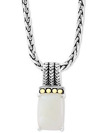 "EFFY® Opal 18"" Pendant Necklace (4-1/2 ct. t.w.) in Sterling Silver & 18k Gold"