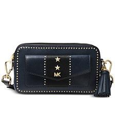 MICHAEL Michael Kors Studded Leather Pocket Camera Bag