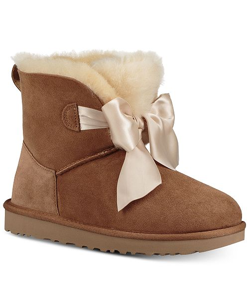 d5a50ff1cfb UGG® Women's Gita Bow Mini Booties & Reviews - Boots - Shoes ...