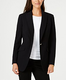Bi-Stretch One-Button Blazer, Created for Macy's