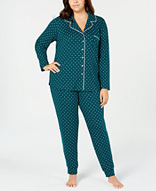 Alfani Plus Size Super-Soft Pajama Set, Created for Macy's