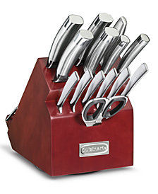 Cuisinart 15-Pc. Classic Rotating Block Cutlery Set, Created for Macy's