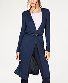 I.N.C. Ribbed Duster Cardigan, Created for Macy's