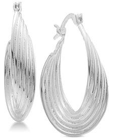 Essentials Multi-Layer Twisted Oval Hoop Earrings