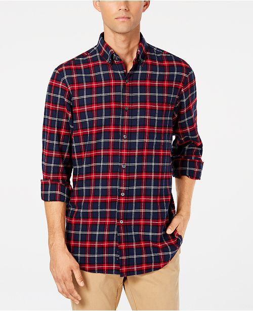 0ea2698f Club Room Men's Flannel Shirt, Created for Macy's & Reviews - Casual ...
