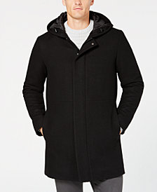 Alfani Men's Classic-Fit Hooded Topcoat, Created for Macy's