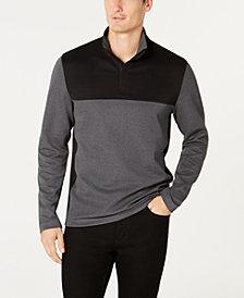Alfani Men's Ottoman Textured Colorblocked Quarter-Zip Sweatshirt, Created for Macy's