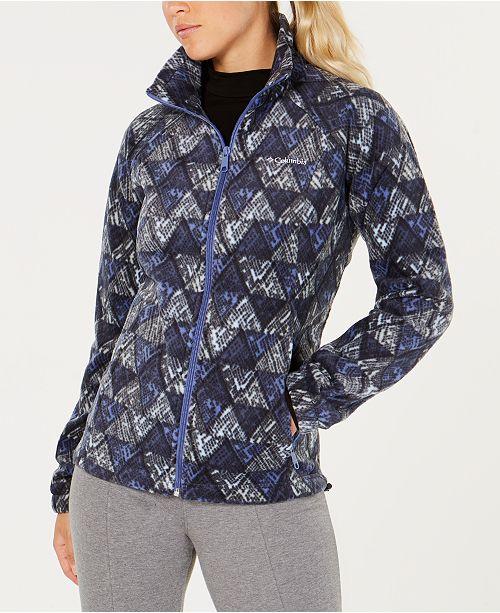 93b898c20d7 Columbia Benton Springs Printed Fleece Jacket   Reviews - Jackets ...