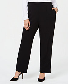 Alfred Dunner Plus Size Sutton Place Pull-On Pants, Short and Reg Inseam