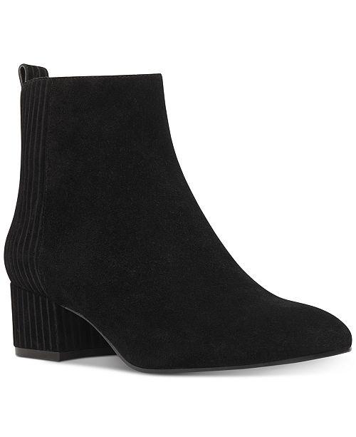 aa2350a2c601 Nine West Lamonto Block-Heel Booties   Reviews - Boots - Shoes - Macy s