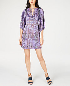 Nanette Lepore Royale Printed Keyhole Dress, Created for Macy's