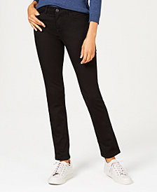 Lee Platinum Petite Flex-Motion Straight-Leg Jeans