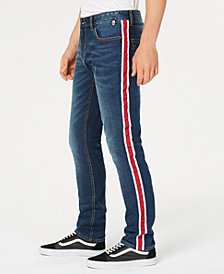 American Rag Men's Slim-Fit Side-Stripe Jeans, Created for Macy's