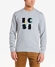 Lacoste Men's LCST Flocked Logo Fleece Sweatshirt